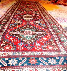 A16621/0151. Karabagh Early 20th Century Caucasian Rug; Size 3.40m x 1.03m