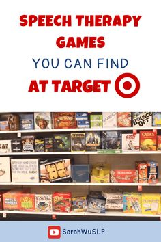 Speech therapy games you can find at Target - Looking for fun, engaging, and creative speech therapy ideas? Join me in my Target haul to find the best speech therapy games. - Speech is Beautiful