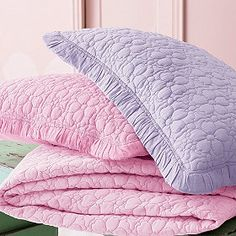 available in pink - quilt & sham for $65.00