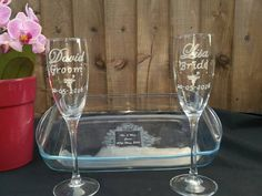 Check out this item in my Etsy shop https://www.etsy.com/uk/listing/273830748/personalised-wedding-champagne-flutes-mr