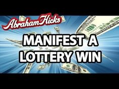 Abraham Hicks 2014 - How to Manifest That #lottery Win - YouTube Lotto Winners, Lottery Winner, Winning The Lottery, Lottery Strategy, Lottery Tips, Win For Life, Way Of Life, I Am A Winner, Meditation