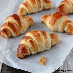 Classic Croissants with step by step photos