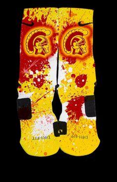 South Carolina Trojans  Inspired Custom Nike Elite Socks  #Trojans #USC d #trojans #beat #fighton #ncaa #socks #customelites #usctrojans #uscalumnus