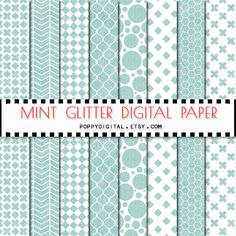 Mint digital paper patterns - gold backgrounds with textures gold polka dot, gold cross, gold lines, gold diamonds, gold rhombs