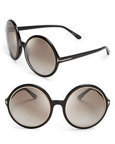 Tom Ford Carrie Oversized Round Sunglasses | Bloomingdale's