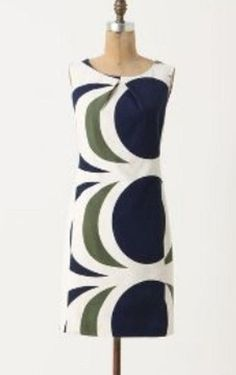 NEW Anthropologie Drafting Shift cotton dress 0/2/4/6/8 $158 #Anthropologie #Shift