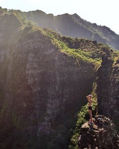 The Crouching Lion hike on the Pu'u Manamana Hiking Trail, Oahu, Hawaii.