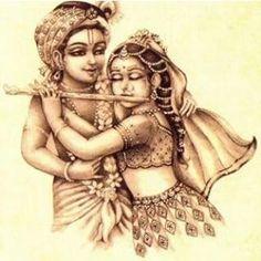 Young Krsna & Radhika - draw