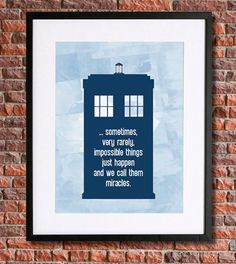 Doctor Who Tardis Poster with Quote | 8x10 Instant Download Printable | 11th Doctor | Matt Smith | Vector Watercolour Style