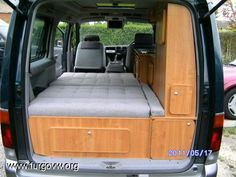 This is two rock and roll seats in a row? Suv Camper, Mini Camper, Popup Camper, Van Conversion Layout, Van Conversion Interior, Truck Camping, Van Camping, Mercedes Vito Camper, Ford Transit Camper Conversion