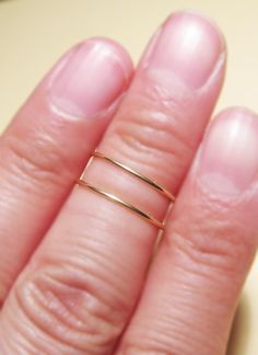 Knuckle Rings, Silver Chevron above Knuckle Ring, Adjustable Knuckle Ring, Simple Knuckle Ring, Vintage Mid-finger Ring