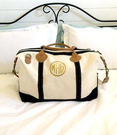 Ladies bags accessories christmas gifts Monogram Weekender Bag Monogram Duffel Bag by PrettyLettersShop Duffel Bag, Weekender, Purse Styles, Lookbook, Monogram Gifts, Luggage Bags, Gift Bags, Travel Bags, Bag Accessories