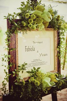 Love the green with the rustic frame