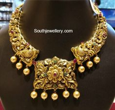 Light Weight Peacock Nakshi Necklace photo