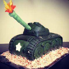 Army Tank Birthday Cake!