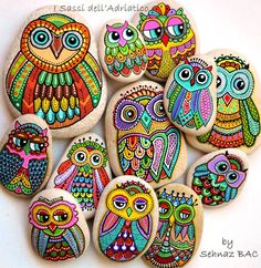 Painted Owls by Sehnaz Bac