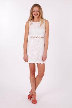 Sunny Girl Lace Dress With Crochet Waist - Womens Short dresses - Birdsnest Online Shop