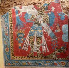 Reconstitución de una pintura mural de Cacaxtla, en el Museo Nacional de Antropología (Distrito Federal de México).