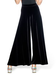 Velvet Black Volume Pant (AU $99AUD / US $80USD) by Black Milk Clothing