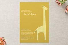 Giraffe Baby Shower Invitations | Shower That Baby