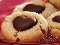 Chocolate Heart Peanut Butter Cookies