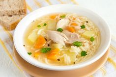 sopa de pollo para bajar la fiebre