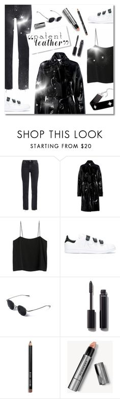 """City Slickers: Patent Leather"" by plnzh ❤ liked on Polyvore featuring M.i.h Jeans, Carven, Shaina Mote, adidas, Chanel, Bobbi Brown Cosmetics, Burberry and Jennifer Zeuner"
