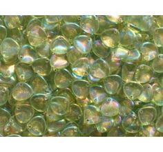 50pcs Rose Petal 7x8mm Pressed Czech Glass Beads Erinite Iris