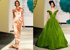 Russia. Oscar Worthy Dresses by Ulyana Sergeenko. The one on the right reminds me of Scarlett O'Hara