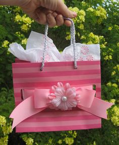 Recycled Victoria Secret Bag. Brilliant!