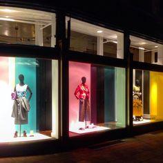 "DRIES VAN NOTEN, Antwerp, Belgium, ""If window shopping doesn't make you happy, then you're looking at the wrong window-displays"", pinned by Ton van der Veer"
