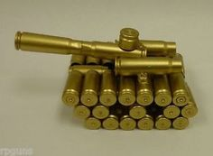 New Tank Made from Bullet Casings Unique RARE Model Paperweight ...