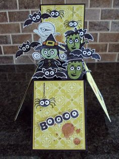 Stampin Up - Googly Ghouls Card in a Box by paperecstasy.blogspot.com