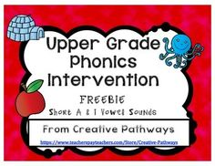 """Reteaching"" Phonics in 7-10 minutes a day, with a program designed to accelerate the learning process and close upper elementary grade (grades 2 and above) students reading gaps quickly.As a Resource Specialist, I have been teaching reading intervention groups for many years and this is what works for me!"