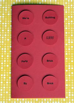 Lego Party - The Invitation via bliss bloom blog