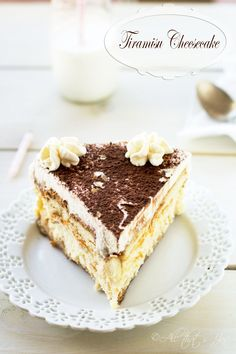 Tiramisu Cheesecake - double the love with this silky, creamy goodness