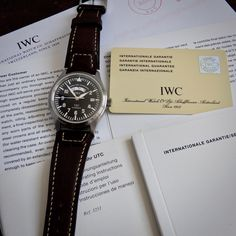 IWC Fliegeruhr UTC Calibre 37526 Automatic Black Dial Pilots Watch ALL ORIGINAL Iwc, Pilots, Watches, The Originals, Ebay, Black, Wristwatches, Black People, Clocks