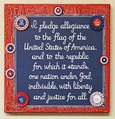 Let Freedom Ring Canvas Art Silbermann Silbermann Franklin Crafts & Frame Shop Bonney Lake Frame Crafts, Canvas Crafts, Canvas Art, Pledge To The Flag, Patriotic Crafts, Americana Crafts, Patriotic Party, Independance Day, Pledge Of Allegiance