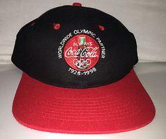 dfe41bec899 Vtg Coca Cola Snapback hat cap rare 90s nwot olympics sponsor diet sprite  coke