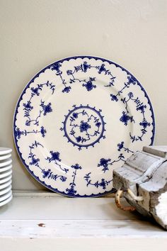 vintage blue and white