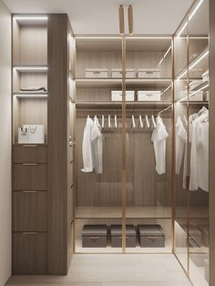 Wardrobe Room, Wardrobe Design Bedroom, Master Bedroom Closet, Built In Wardrobe, Girl Bedroom Designs, Walk In Closet Design, Closet Designs, Massage Room Decor, Modern Closet