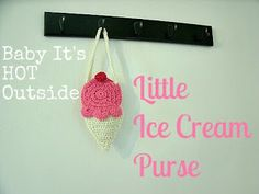 Little Ice Cream Purse Free Pattern - For a little girl