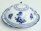 Blue Transferware Butter Dish Porcelain Toile Floral Flowers 5 Inches | eBay