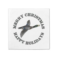 shop personalized hunting mallard duck merry christmas gift tags created by fishing_hunting_tees
