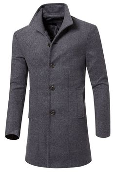 New vermers Mens Trench Coat Clearance Sale Men Casual Jacket Warm Winter Long Outwear Button Smart Overcoat Clothes online - Topbrandsclothing Trench Coat Homme, Winter Trench Coat, Long Winter Coats, Trench Coats, Autumn Coat, Cheap Mens Jackets, Men's Jackets, Man's Overcoat, Winter Overcoat