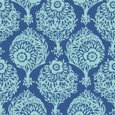 Anna Maria Horner - Innocent Crush - Woodcut in SassBlue... this would work with the new bedding