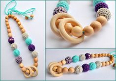 Nursing necklace /Teething necklace / by ForYourHappyBaby on Etsy