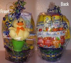 The twins first easter baskets easter baskets easter and twins infant easter basket negle Images
