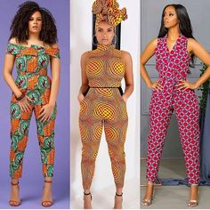 Afrikanische Mode Latest Ankara Fashion Jumpsuits as seen on Nigerian celebrities and African Social African Fashion Ankara, African Inspired Fashion, Latest African Fashion Dresses, African Print Fashion, Africa Fashion, Women's Fashion Dresses, African Shop, Nigerian Fashion, African Men