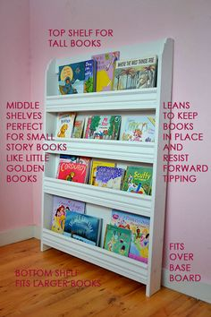 slim bookshelf perfect for a small nursery or child's room